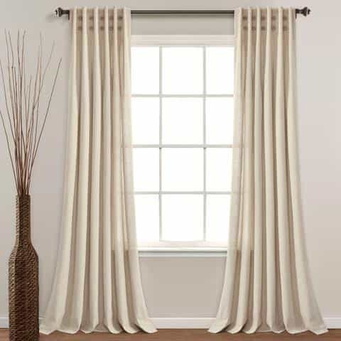 Do curtains have to touch the floor?