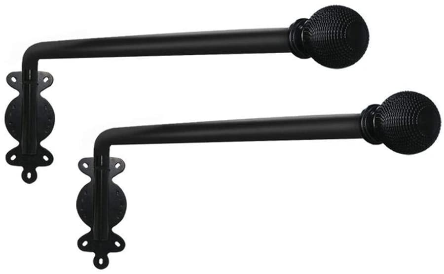 swing arm curtains rods