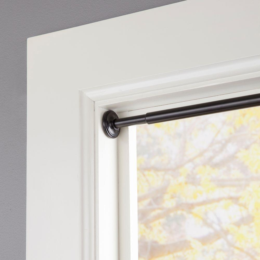 Tension curtains rods